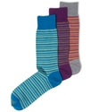 Men's Socks, Multi Mini Stripe Single Pack