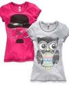 Kids T-Shirts, Girls Mustache Graphic Tees