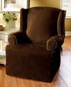 Slipcovers, Soft Faux Suede Wing Chair Cover Beddi