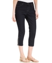 Jeans, Curvy-Fit Zippered Capri, Rinse Wash