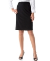 Petite Pencil Skirt, Button Detail Flounced