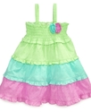 Baby Dress, Baby Girls Rainbow Dot Sundress