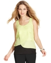 Top, Sleeveless Tiered Scoop-Neck