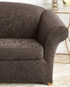 Slipcovers, Stretch Jacquard Damask 2-Piece Lovese