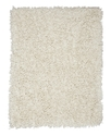 Area Rug, Silky Shag Ivory 3&#39; x 5&#39;