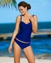 Swimsuit, Ruched Tankini Top Women's Swimsuit