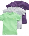 Kids Shirt, Boys Heathered V-Neck Tee