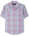 Shirt, Tartan Plaid Short Sleeve Shirt