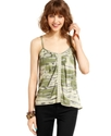 Juniors Top, Sleeveless Printed Camisole