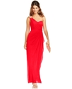 Xscape Dress, Sleeveless One-Shoulder Rhinestone D
