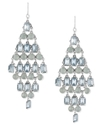 Haskell Earrings, Silver-Tone Blue Bead Diamond-Sh