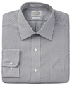 Dress Shirt, Slim-Fit No-Iron White Black Check Lo