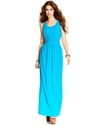 Juniors Dress, Sleeveless Cutout Maxi