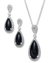 Sterling Silver Jewelry Set, Onyx (7-1/2 ct. t.w.)