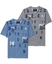 Cut &amp; Sew T Shirt, Industrial Park Graphic T-Shirt