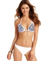 Swimsuit, Halter Sequin Triangle Bikini Top Women'