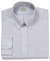 Dress Shirt, No-Iron Pink and Blue Micro Check Shi