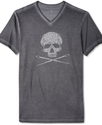 Cut &amp; Sew T Shirt, Studded Skull and Needles Graph