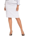 Plus Size Skirt, Textured Straight