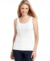 Petite Top, Sleeveless Scoop-Neck Tank