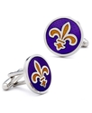 Inc. Cufflinks, Purple Fleur Di Lis Cufflinks