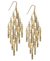 Earrings, Gold-Tone Pave Branch Chandelier Earring