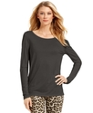 MICHAEL Michael Kors Top, Long-Sleeve Contrast-Bac