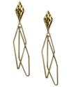RACHEL Rachel Roy Earrings, Gold-Tone Diamond-Shap