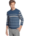 Sons Of Intrigue Sweater, Striped Crewneck Sweater