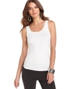 Top, Sleeveless Scoop-Neck Solid Tank