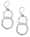 Macy&#39;s Earrings, Silver-Tone Double Circle Drop Ea