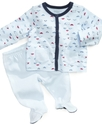 Baby Set, Baby Boys Asymmetrical Shirt and Footed