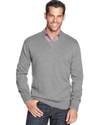 Sweater, Cotton-Cashmere V Neck Sweater
