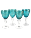 Glassware, Set of 4 Shimmer Goblets