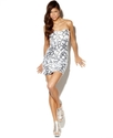 Juniors Dress, Strapless Sequin Mini