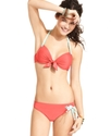Swimsuit, Halter Tie-Front Push-Up Bikini Top Wome