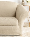 Slipcovers, Stretch Jacquard Damask 2-Piece Sofa B