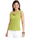 by ASL Top, Sleeveless Cowl-Neck Jersey