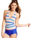 Swimsuit, Halter Striped Tankini Top Women's Swims