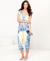 Pajamas, Flutter Sleeve Top and Capri Pants Set
