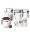 Food Storage Containers, 7 Piece Set Ceramic Canis