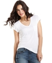 Petite Top, Short-Sleeve V-Neck Tee