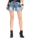 Juniors Shorts, Studded Light-Wash Boyfriend
