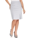 Plus Size Skirt, Seersucker Pleated-Hem
