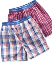 Kids Boxers, Little &amp; Big Boys 2 Pack Plaid and St