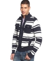 Sweater, Stripe Shawl Collar Cardigan