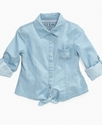 GUESS Kids Shirt, Girls Chambray Top