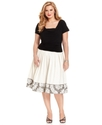 Plus Size Dress, Short-Sleeve Ruched A-Line