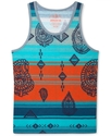 T-Shirt, Ikat Print Tank Top
