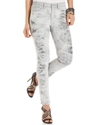 , Ultimate Skinny Printed, Grey Wash